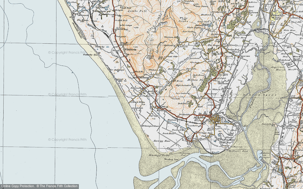 Old Map of Historic Map covering Baldmire in 1925