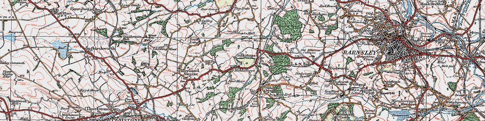 Old map of Silkstone in 1924