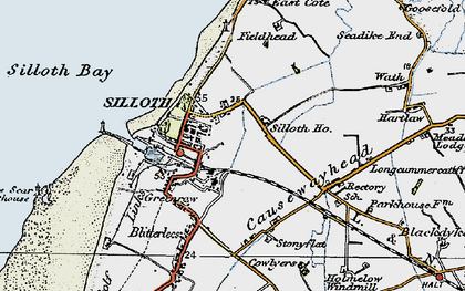 Old map of Windmill, The in 1925