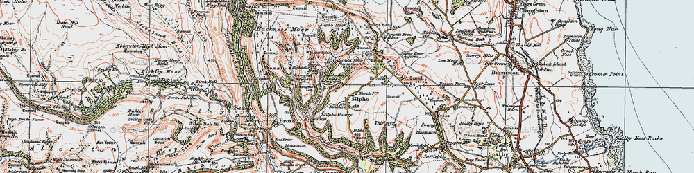 Old map of Whisperdales in 1925