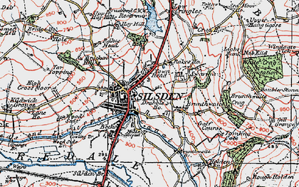 Old map of Silsden in 1925