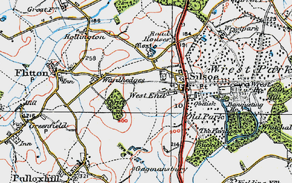 Old map of Wrest Ho in 1919