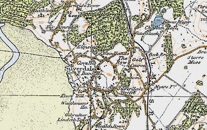 Old map of Silverdale in 1925