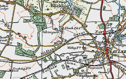 Old map of Abel Heath in 1922