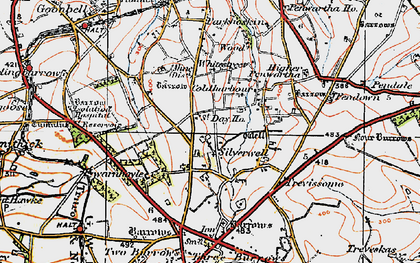Old map of Silverwell in 1919