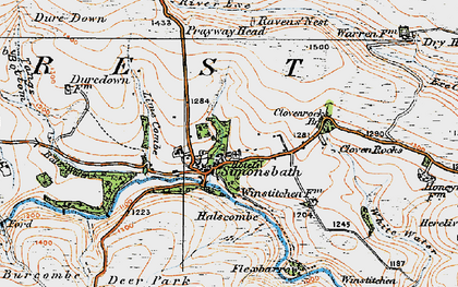 Old map of Lime Combe in 1919