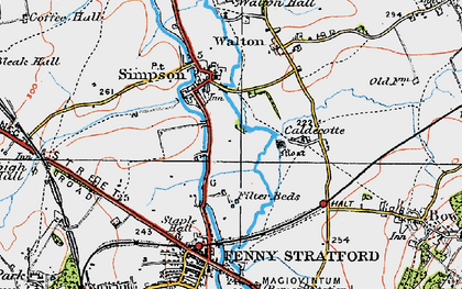 Old map of Simpson in 1919