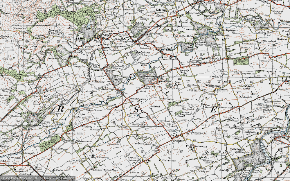Old Map of Historic Map covering Laws, The in 1926