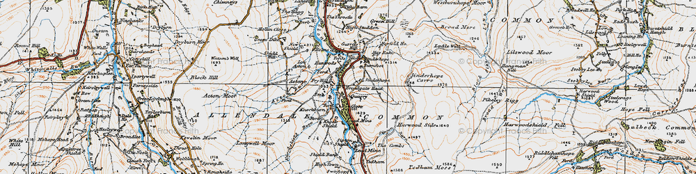 Old map of Acton Burn in 1925