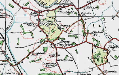 Old map of Singleton in 1924
