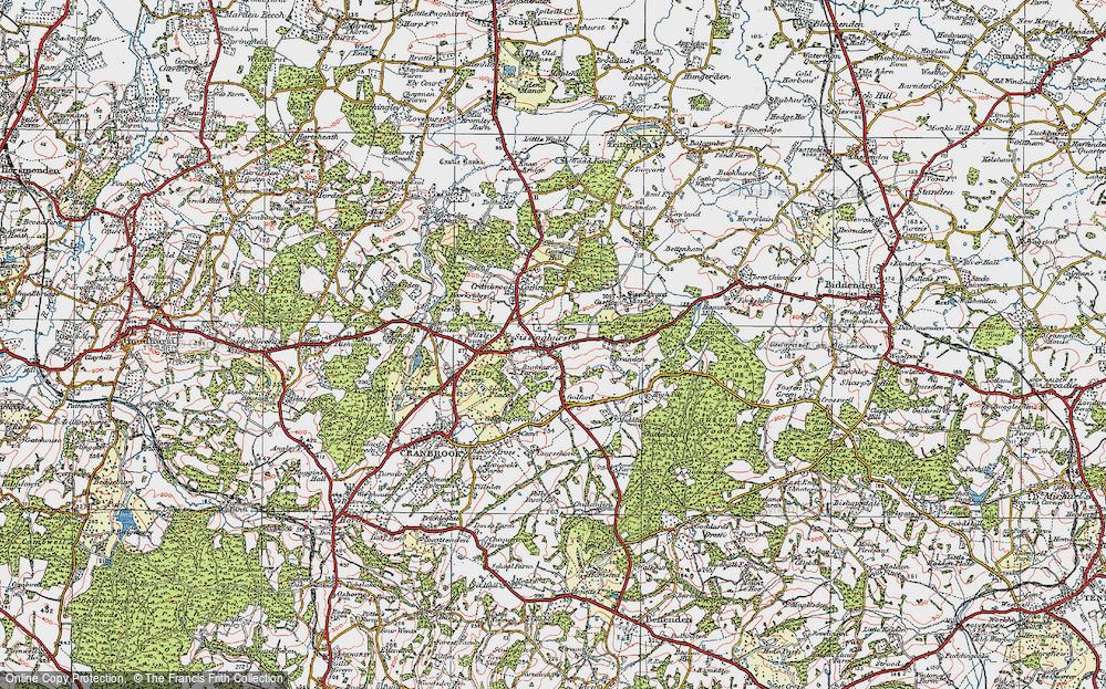 Old Map of Sissinghurst, 1921 in 1921