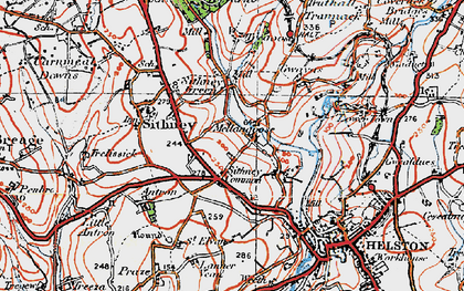 Old map of Lanner Vean in 1919