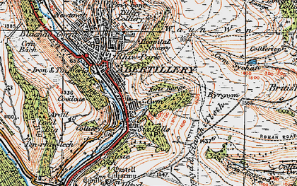 Old map of Six Bells in 1919