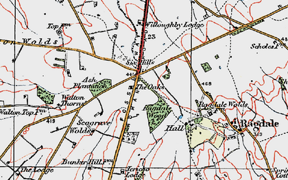 Old map of Wymeswold Lodge in 1921