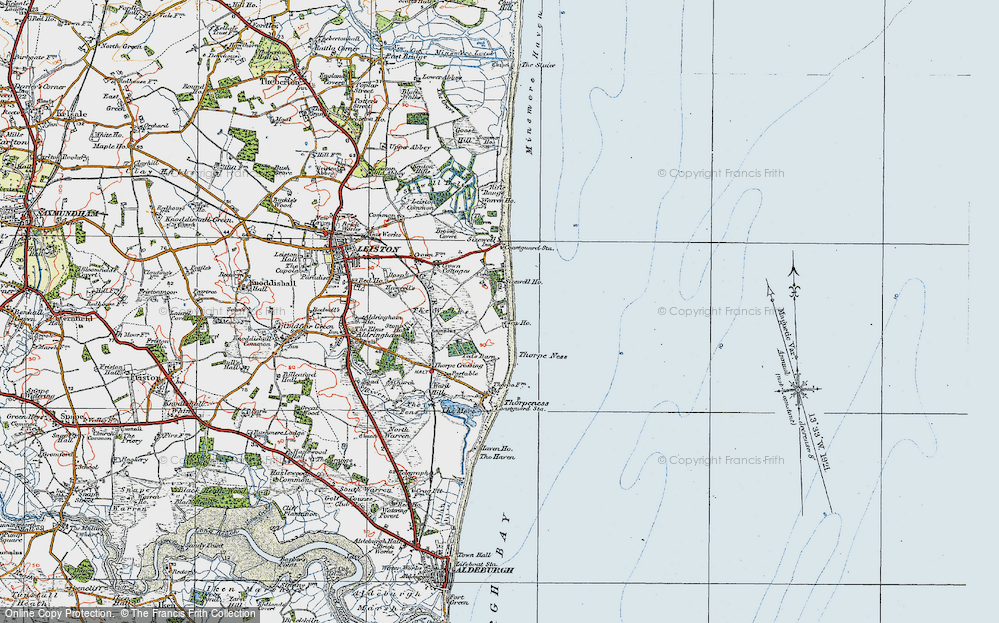 Old Map of Sizewell, 1921 in 1921