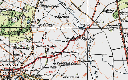 Old map of Skeeby in 1925