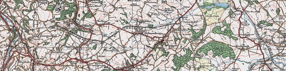 Old map of Skelmanthorpe in 1924