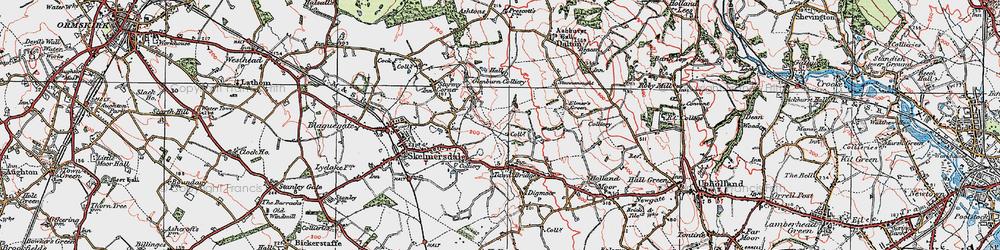 Old map of Skelmersdale in 1923