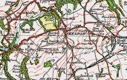 Old map of Skelton in 1925