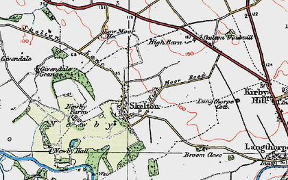 Old map of Skelton on Ure in 1925