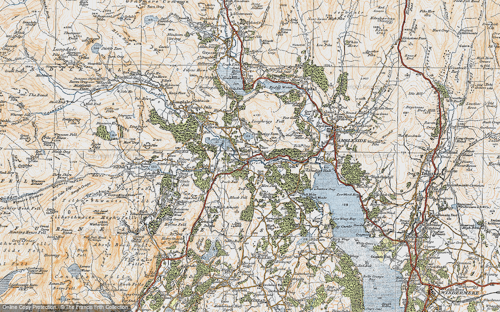 Old Map of Historic Map covering Ashley Green in 1925