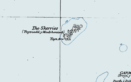 Old map of Ynys Arw in 1922