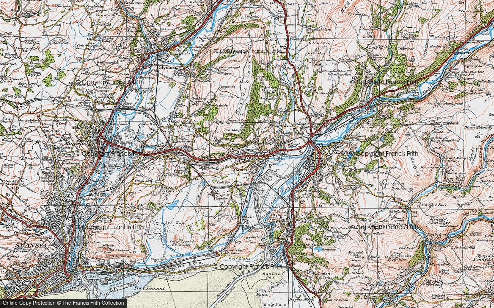 Old Map of Skewen, 1923 in 1923
