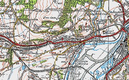 Old map of Skewen in 1923
