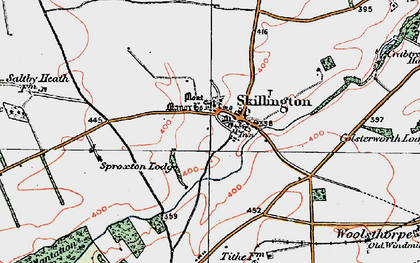 Old map of Skillington in 1921