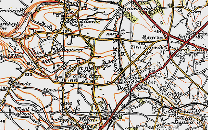 Old map of Skinner's Bottom in 1919