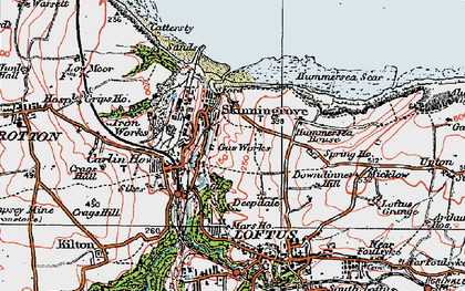 Old map of Skinningrove in 1925