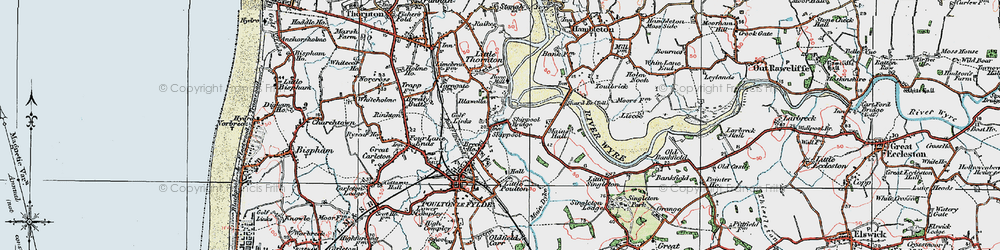 Old map of Wyre Way in 1924