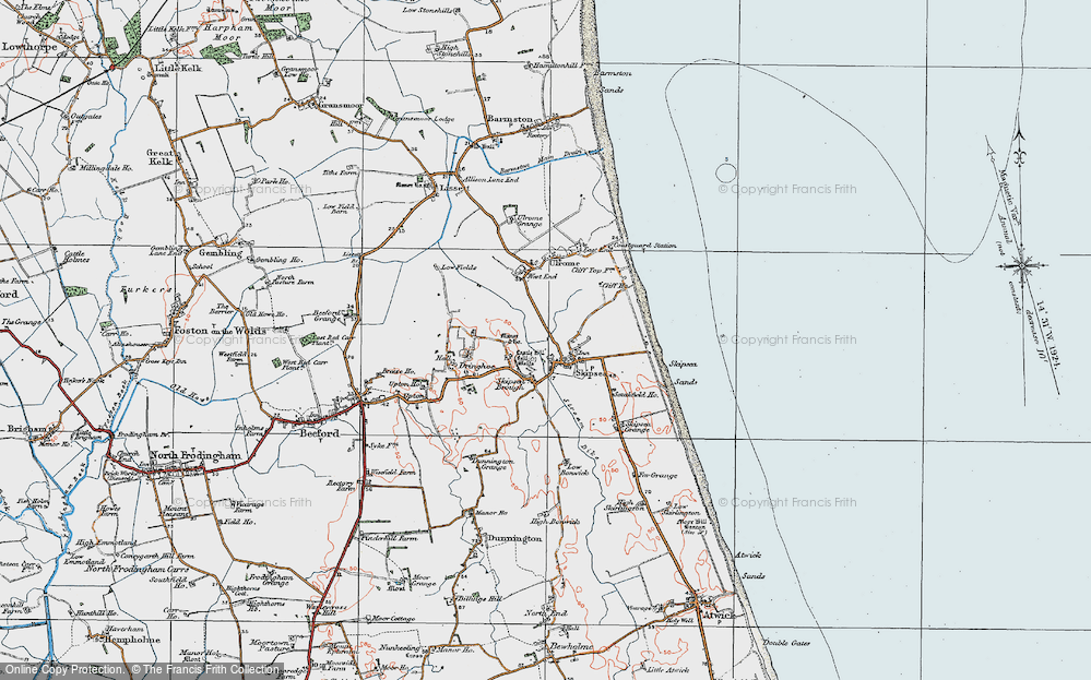 Old Map of Skipsea, 1924 in 1924