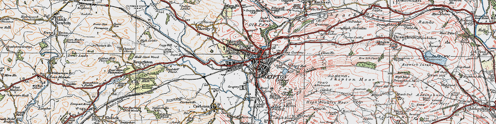 Old map of Aireville Park in 1925