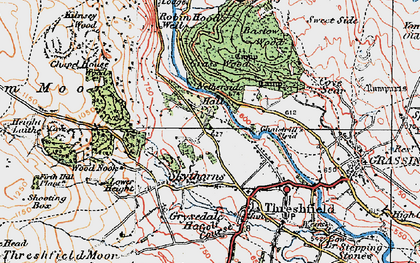Old map of Wood Nook in 1925