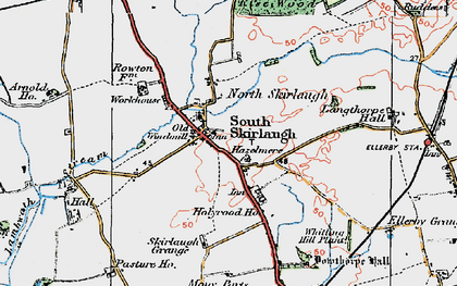 Old map of Skirlaugh in 1924