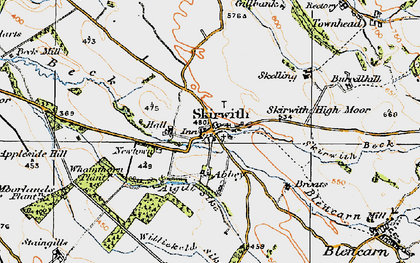 Old map of Whamthorn Plantn in 1925