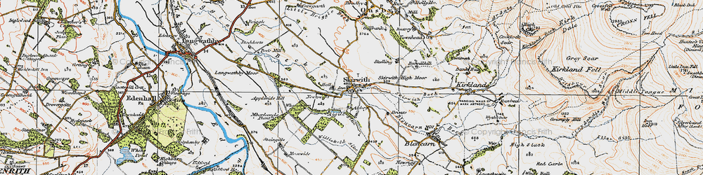 Old map of Aigill Sike in 1925