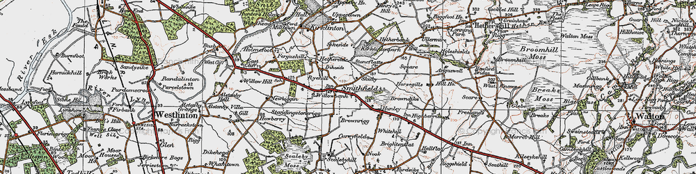 Old map of Willow Bank in 1925