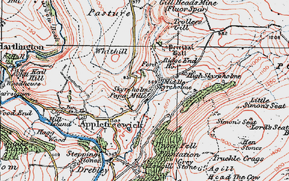 Old map of Whithill in 1925