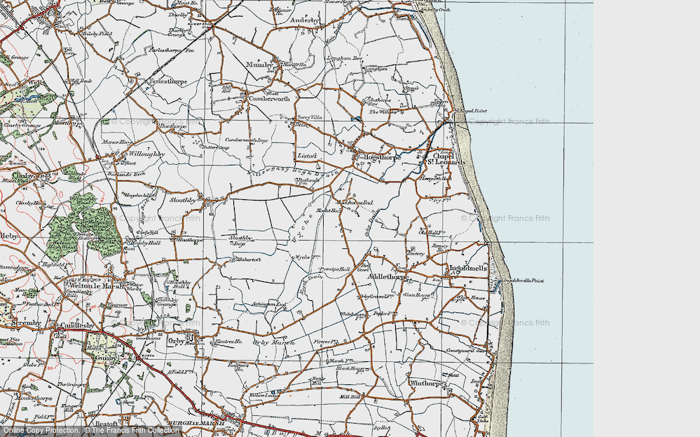 Old Map of Historic Map covering Wyche in 1923