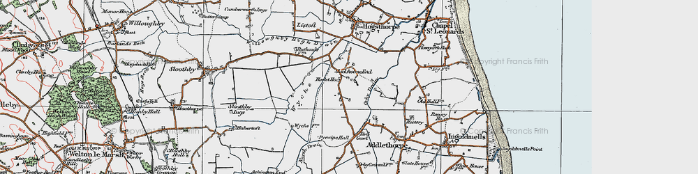 Old map of Wyche in 1923