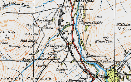 Old map of Aules Hill in 1925