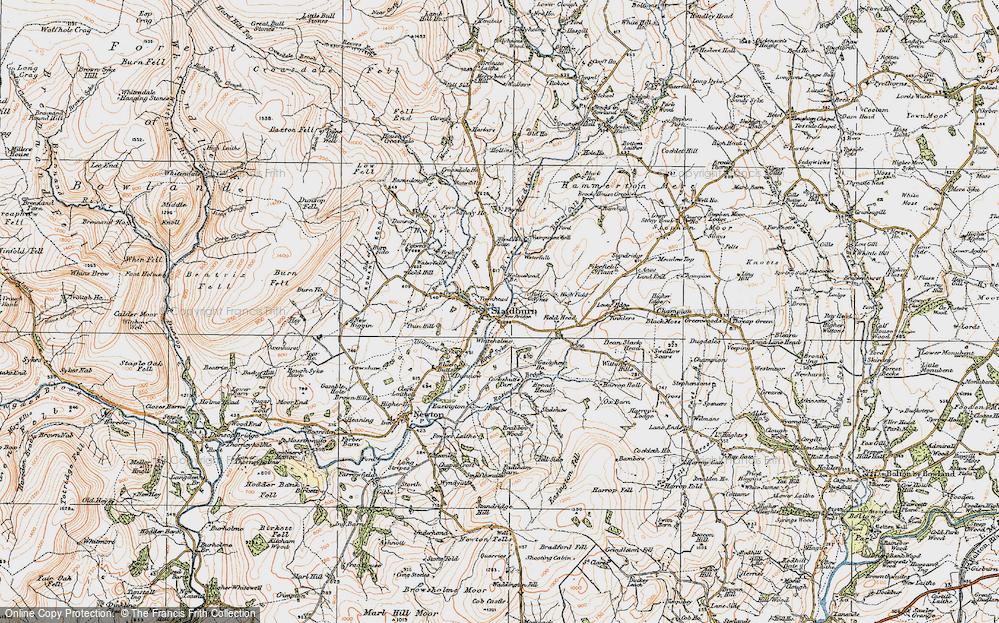 Old Map of Slaidburn, 1924 in 1924