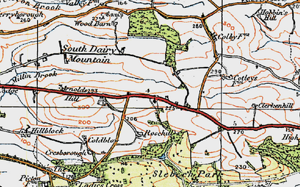 Old map of Wiston Wood in 1922