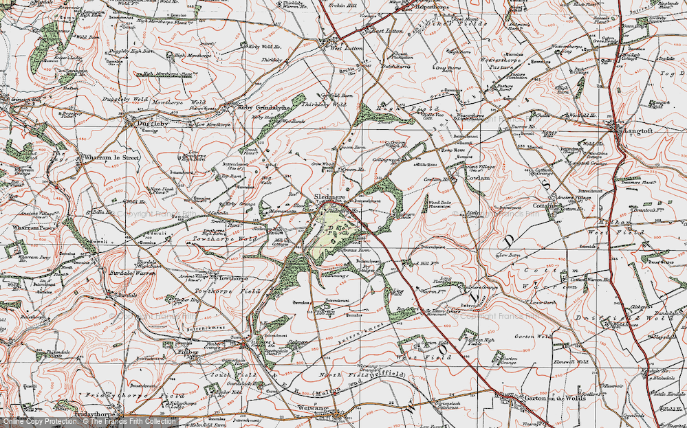Old Map of Historic Map covering Wood Dale Plantn in 1924