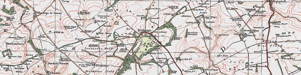 Old map of Wood Dale Plantn in 1924