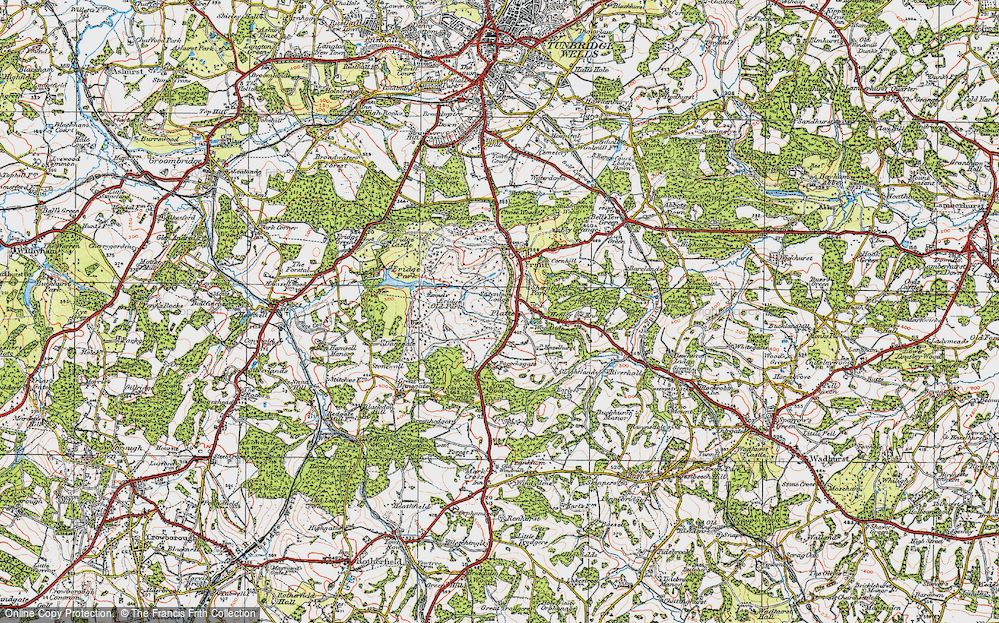Old Map of Historic Map covering Lightlands in 1920