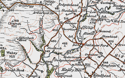 Old map of Arthur Seat in 1925