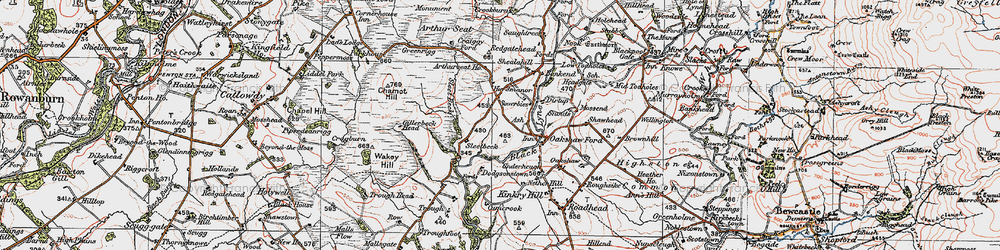 Old map of Wickerthwaite in 1925